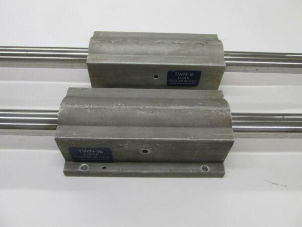 2 Thomson Industries TWN-16 Super Pillow Blocks linear bearing + 1