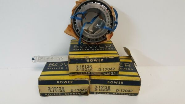 LOT OF (3) NEW IN BOX! BOWER ROLLER BEARINGS 15126