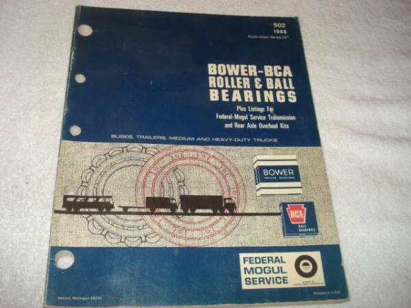 1966 Bower/BCA Roller & Ball Bearing Bus Trailer Medium-H Duty Truck Catalog