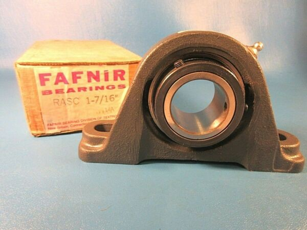 Fafnir RASC 1 7/16 Cast Iron 2-Bolt Ball Bearing Pillow Block 1.4375