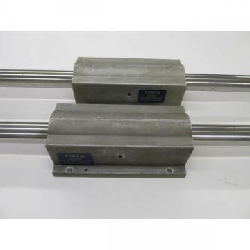 "2 Thomson Industries TWN-16 Super Pillow Blocks linear bearing + 1"" shaft rails"