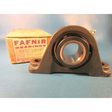 """Fafnir RASC 1 7/16 Cast Iron 2-Bolt Ball Bearing Pillow Block 1.4375"""" Shaft"""